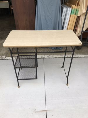 MCM Black Iron Desk for Sale in Sterling Heights, MI