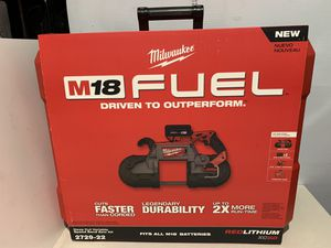 Milwaukee M18 FUEL 18-Volt Lithium-Ion Brushless Cordless Deep Cut Band Saw with (2) 5.0Ah Batteries, Charger, Hard Case for Sale in Hayward, CA