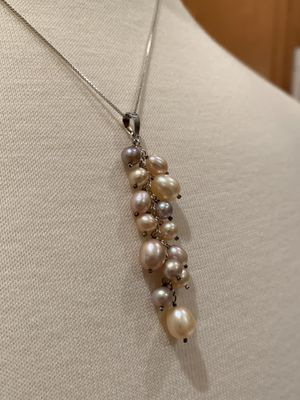Cultured Fresh Water Pearl 925 Sterling Silver Necklace for Sale in Sterling, VA