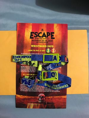 Escape Halloween ticket of 2-day GA for Sale in Fountain Valley, CA