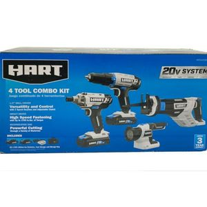 Hart 4 Power Tool Combo Kit With 2 Batteries & Charger for Sale in Euclid, OH