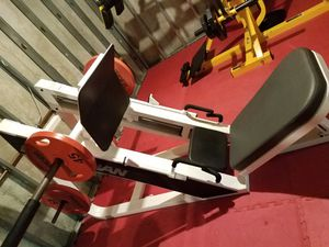Icarian Heavy Duty linear bearing leg press machine The gliding cairrage is super smooth and very sturdy! for Sale in Manchester, MO