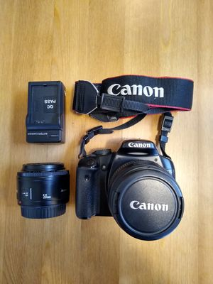 Canon EOS Rebel XSi 450D DSLR camera + 2 lenses for Sale in Vancouver, WA