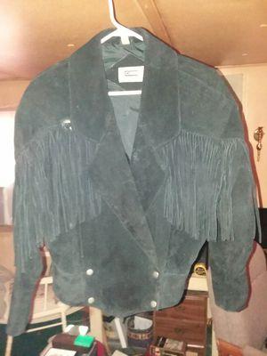 Vintage Woman's fringe leather coat size Medium for Sale in RAISINVL Township, MI