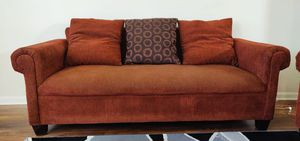 3+2 used sofa set with 5 sofa pillow in good condition for Sale in Ashburn, VA