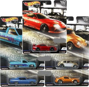 Hot wheels blvd cruisers nissan hardbody vw Volkswagen big Chevy chevelle Toyota Supra $12 ea Hotwheels collectible die cast toy cars for Sale in Bloomington, CA