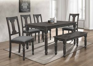 NEW, 6PC Distressed Dining Room SET, SKU# 7816-7716 for Sale in Westminster, CA