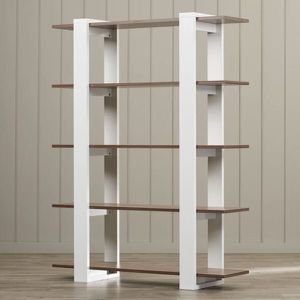 MODERN Bookcase OR Shelf!!! White & Wood! $200 Cash (Culver City) for Sale in Los Angeles, CA
