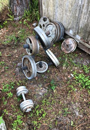 Olympic style free weights for sale for Sale in Lakeland, FL
