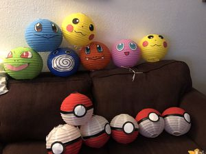 Pokemon Party Decoration $20 (for ALL 13) for Sale in Artesia, CA