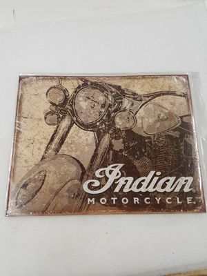 Indian motorcycle bike retro style metal sign for Sale in Vancouver, WA