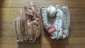 Baseball Gloves (2) Spalding / SSK and Baseball for Sale in Richmond, VA