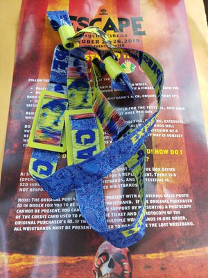 2x Friday portion of Escape 2-Day wristband for Sale in San Diego, CA