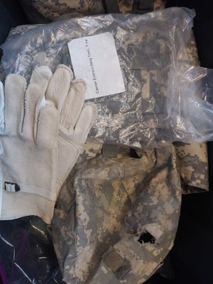 Military items jackets combat shirt goggles for Sale in Arlington, TX