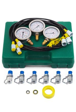 VEVOR Hydraulic Pressure Gauge Kit Excavator Parts Hydraulic Tester Coupling Hydraulic Pressure Test Kit for Excavator Construction Machinery (25/40/ for Sale in Rancho Cucamonga, CA