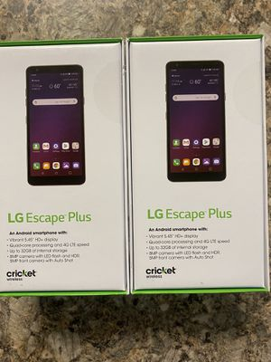 Brand new LG escape plus cricket wireless for Sale in Bakersfield, CA