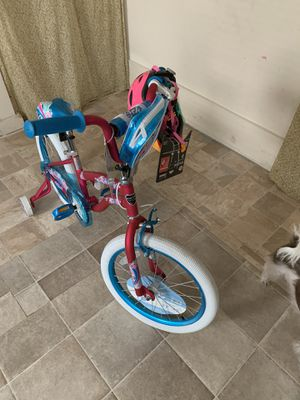 NEW! KENT, Girls bike never been used, it has training wheels and a helmet. for Sale in Haverhill, MA