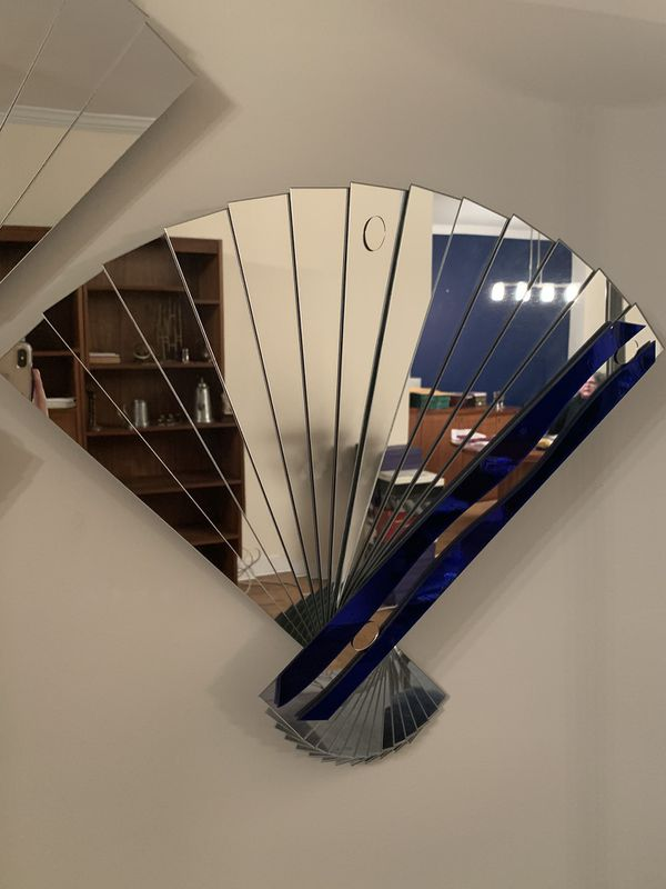 Mirrored Fan Wall Art