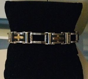 Beautiful two tones stainless steel unisex bracelet for Sale in Orlando, FL