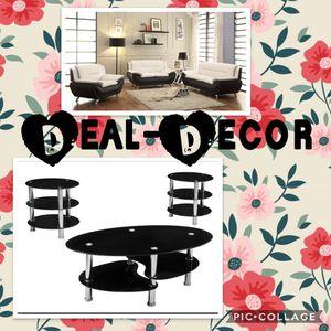 White/Black Living Room Combo Set for Sale in Atlanta, GA