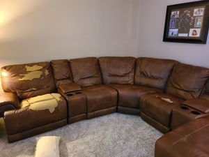 Free leather sectional....pick up only. for Sale in Palm Bay, FL