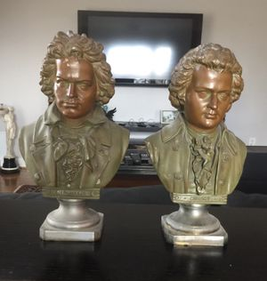 Cast Iron Busts of Beethoven and Mozart for Sale in Falls Church, VA