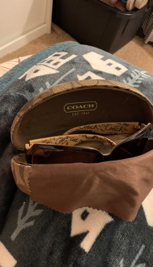 Coach sun glasses almost brean new wear them only 2 times case brand new for Sale in San Leandro, CA