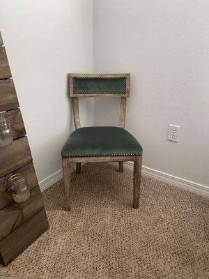 Green Velvet Designer Chair Set for Sale in Milton, FL