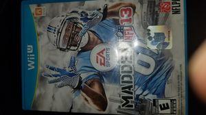 Madden 13 Nintendo Wii u cib for Sale in Los Angeles, CA