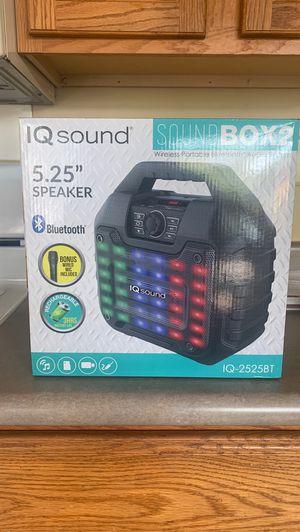 IQ Sound Wireless Portable Bluetooth Audio System 5.25 Speaker for Sale in Bolingbrook, IL