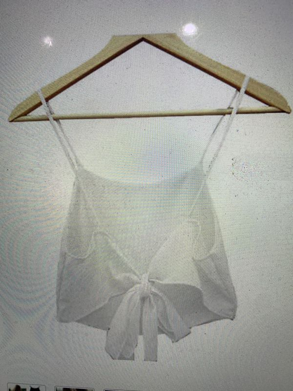 WHITE OPEN BACK TANK TOP SIZE SMALL