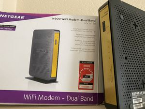 Netgear N900 WiFi Modem with all cables for Sale in Las Vegas, NV