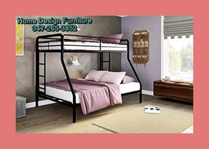 Brand New Twin Over Twin Bunkbed With Orthopedic Mattress For for Sale in Queens, NY