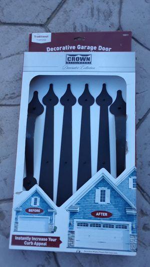Decorative garage door hardware kit for Sale in Manteca, CA