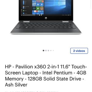 HP pavilion X360 2 In 1 11.6 Touch Screen Laptop for Sale in National City, CA