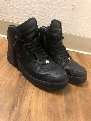 Air Force Black High Tops size 9 for Sale in West Menlo Park, CA