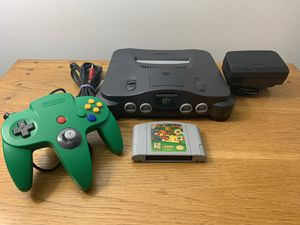 Nintendo 64 + Super Mario 64 + Green Controller OEM for Sale in Tampa, FL