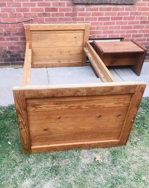 Twin Size Craft Bedframe and Desk/Bench for Sale in Wichita, KS