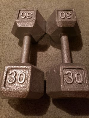 30 lbs dumbbells x 2 for Sale in Orem, UT