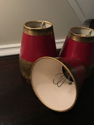 6 - Chandelier lampshades - Burgundy for Sale in Great Falls, VA