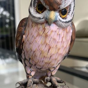 """Vintage wooden handcrafted Owl figurine In good condition Approx 5"""" x 3"""" for Sale in Hobe Sound, FL"""