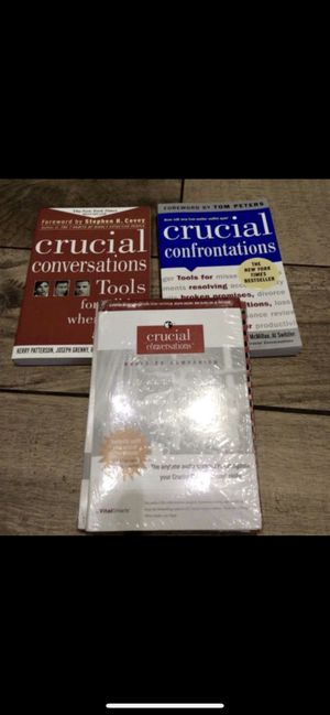 Crucial Conversations books and participant toolkit for Sale in Chino Hills, CA