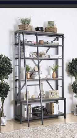 Industrial Bookshelf With Ladder for Sale in Buckeye,  AZ