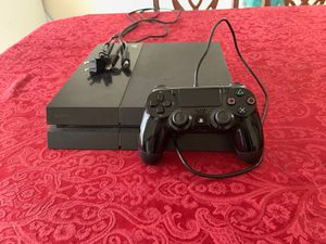 PS4 500 GB Console with HDMI, Power Cord, Charger, and Controller for Sale in El Mirage, AZ