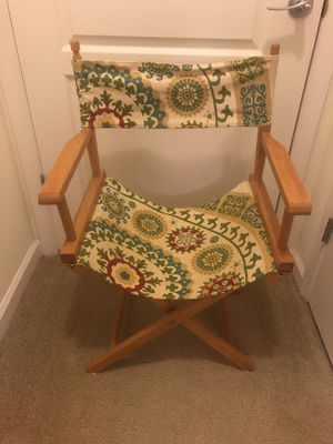 Small director's chair with floral canvas seat for Sale in Mount Rainier, MD