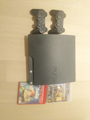 Playstation 3 Slim 320 GB Console with 2 games + 2 controllers for Sale in New York, NY