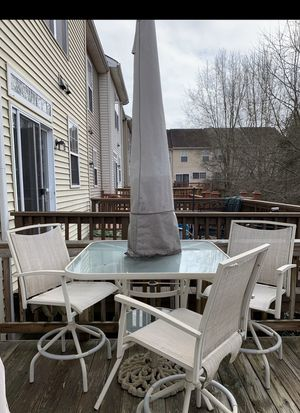 Bar height patio set table and 3 chairs for Sale in Alexandria, VA
