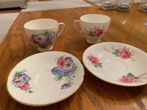 Antique –Old Royal Bone China teacups and saucers. Made in England for Sale in Pittsburgh, PA