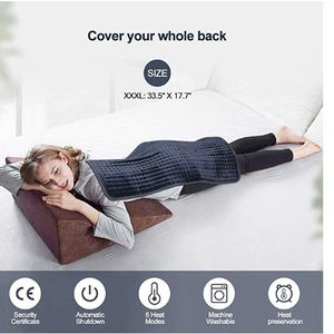 """XXX-Large(33"""" x 17"""") Heating Pad, Electric Heating Pad for Back Pain and Cramps Relief,Moist and DryHeatTherapy,6Heat LevelsWithAuto-Off,Fast Soothing for Sale in Santa Clara, CA"""