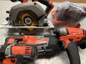 Milwaukee 4 Piece Power Tool Set for Sale in Tucson, AZ